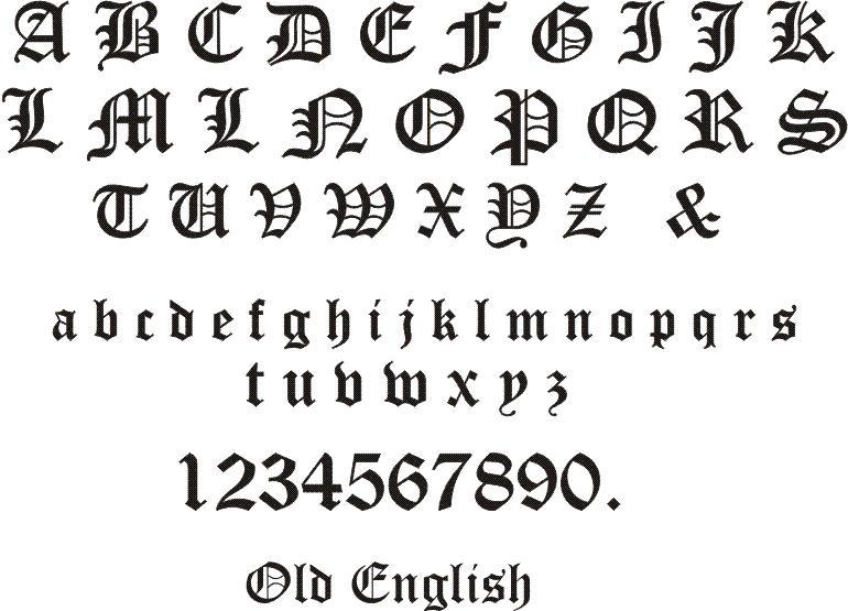 Old english script font old english park avenue