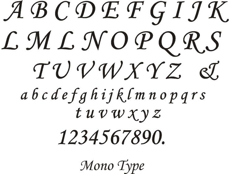 Etched Glass Fonts